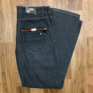 Gucci Black Monogram Pocket Jeans 36x33